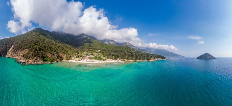 Paesaggio con la spiaggia di Paradise immagini stock