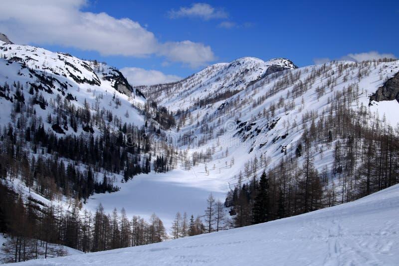 Paesaggio con una montagna, Austria immagini stock libere da diritti