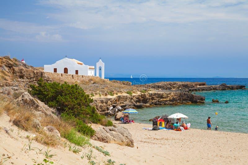 Paesaggio costiero dell'isola di Zacinto fotografia stock libera da diritti