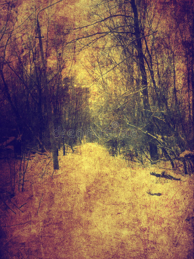 Paesaggio d'annata di inverno royalty illustrazione gratis
