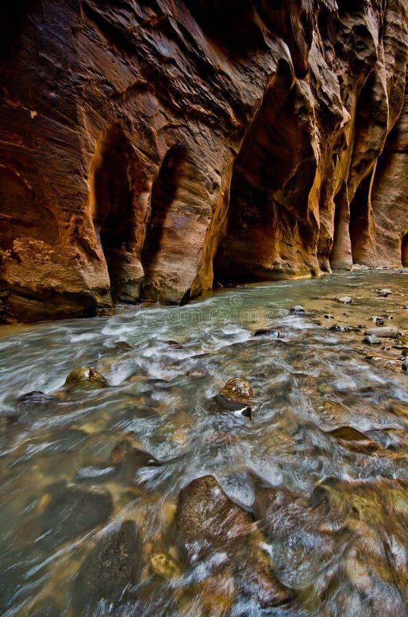 Paesaggio dall'aumento degli stretti a Zion National Park. fotografie stock libere da diritti