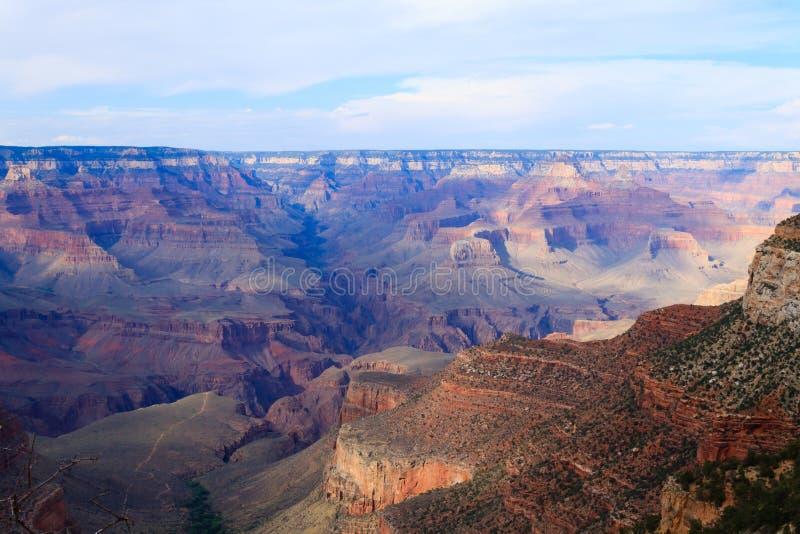Paesaggio dall'orlo del sud di Grand Canyon, U.S.A. fotografia stock