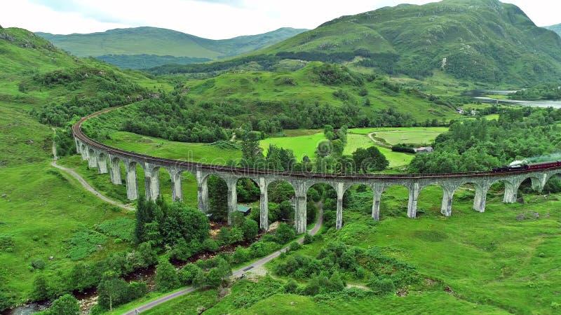 Paesaggio degli altopiani di Scotish e dell'isola di Skye immagine stock libera da diritti