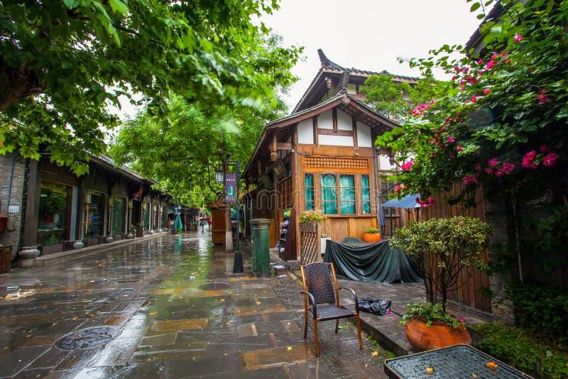 Paesaggio dei vicoli di Kuanzhai fotografia stock libera da diritti