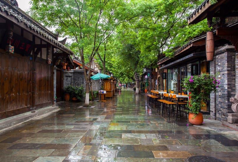 Paesaggio dei vicoli di Kuanzhai immagini stock