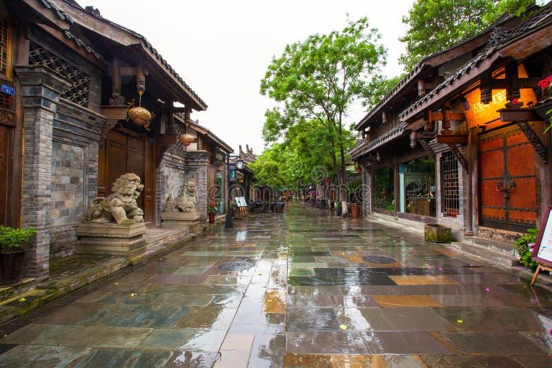 Paesaggio dei vicoli di Kuanzhai fotografia stock
