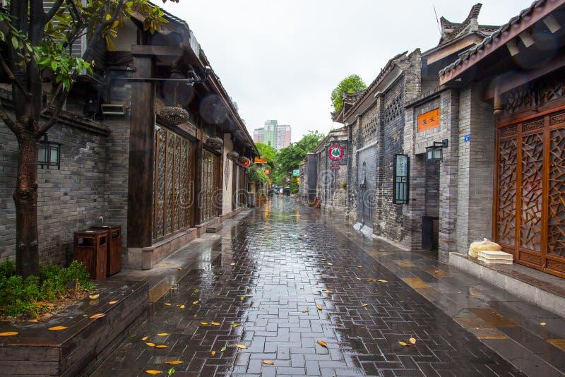Paesaggio dei vicoli di Kuanzhai immagini stock libere da diritti