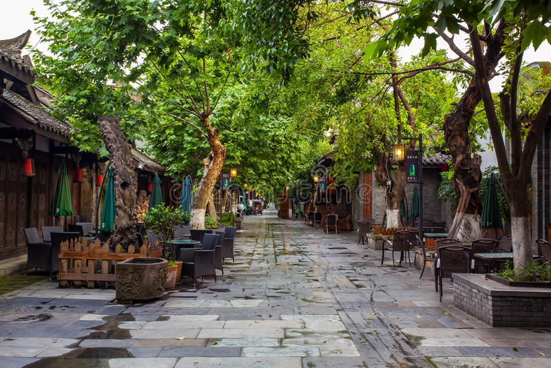 Paesaggio dei vicoli di Kuanzhai immagine stock libera da diritti