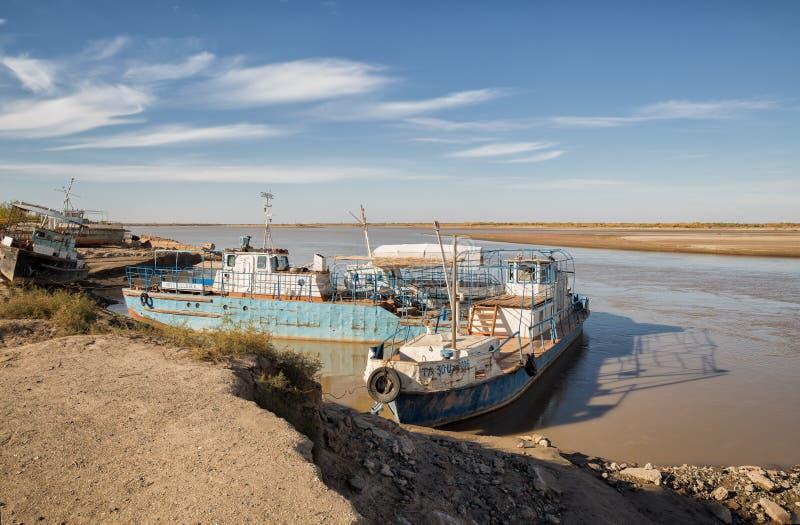 Paesaggio del Amu Darya immagini stock
