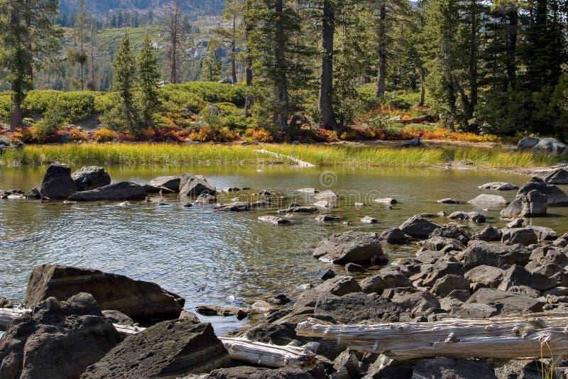 Paesaggio del bacino dei laghi fotografie stock