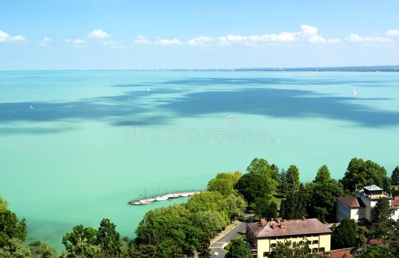 Paesaggio del Balaton dalla penisola di Tihany immagine stock libera da diritti