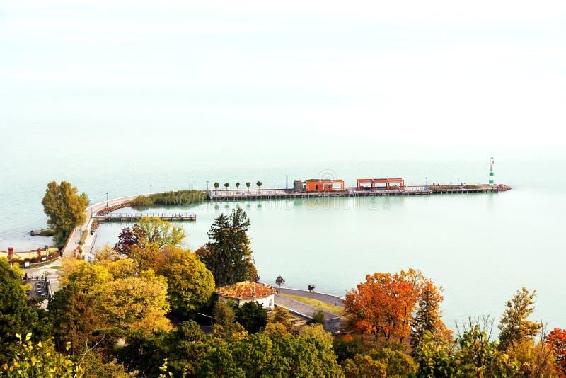 Paesaggio del Balaton, Tihany fotografie stock libere da diritti