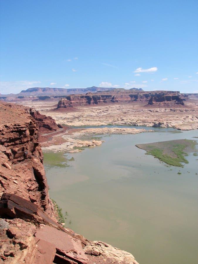 Paesaggio del canyon della valletta fotografie stock