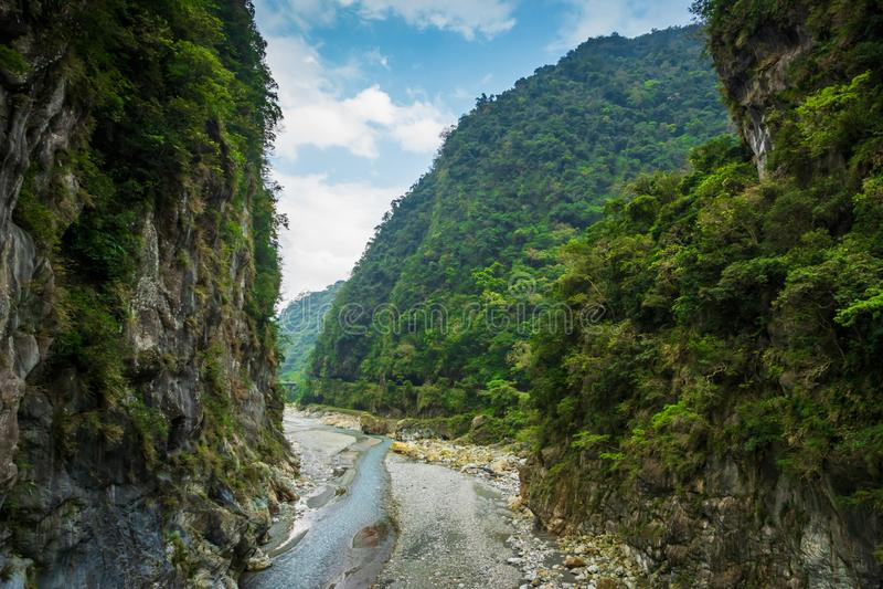 Paesaggio del canyon del parco nazionale di Taroko in Hualien, Taiwan fotografie stock libere da diritti