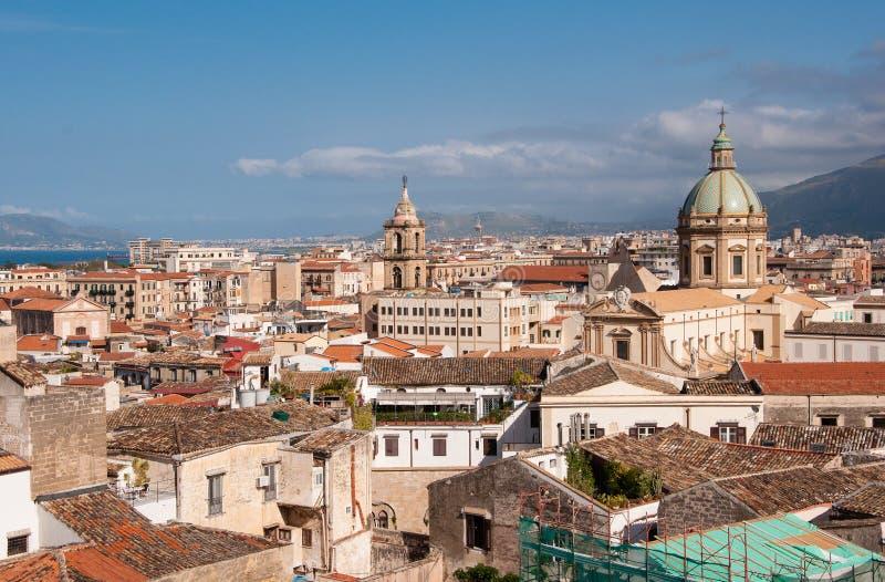 Paesaggio del centro di Palermo fotografia stock