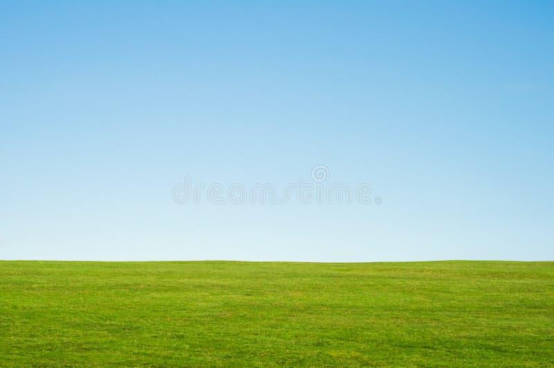 Paesaggio del cielo e dell'erba fotografia stock