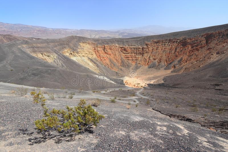 Paesaggio del cratere di Ubehebe fotografia stock