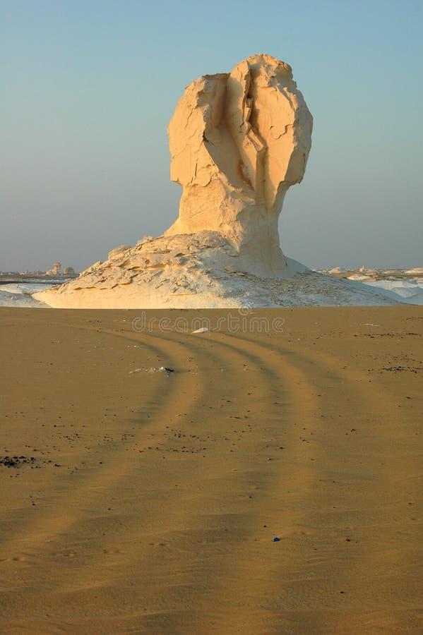 Paesaggio del deserto bianco nell'Egitto fotografia stock