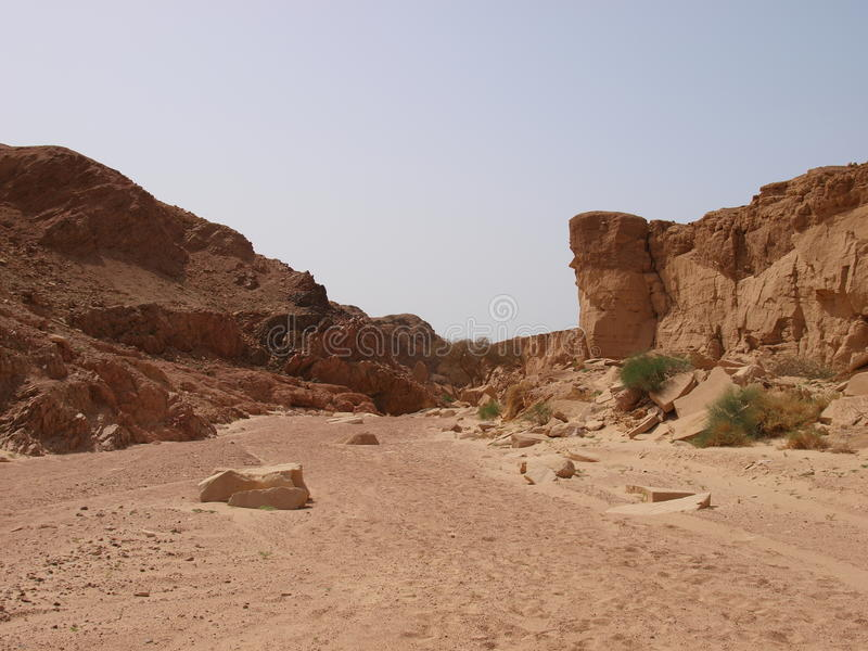 Paesaggio del deserto del penisola del Sinai immagine stock