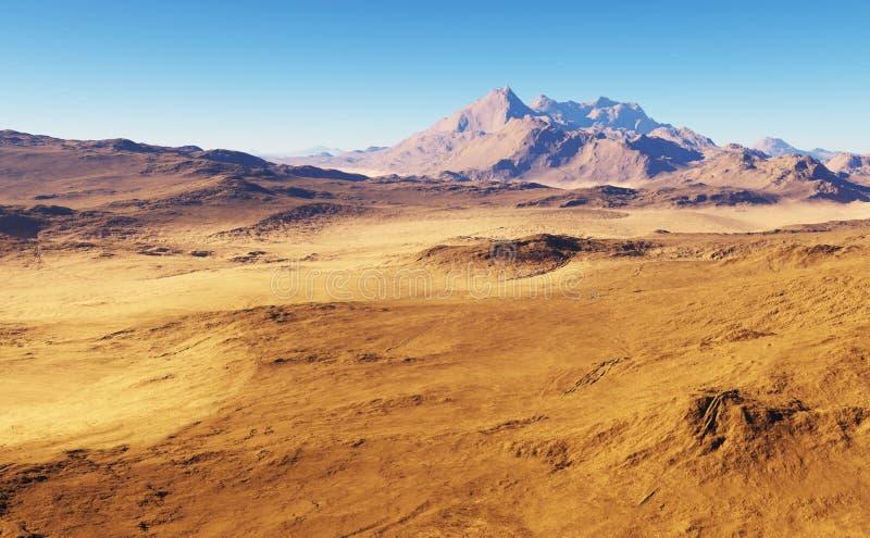 Paesaggio del deserto di fantasia illustrazione vettoriale