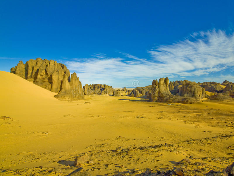 Paesaggio del deserto di Sahara immagine stock