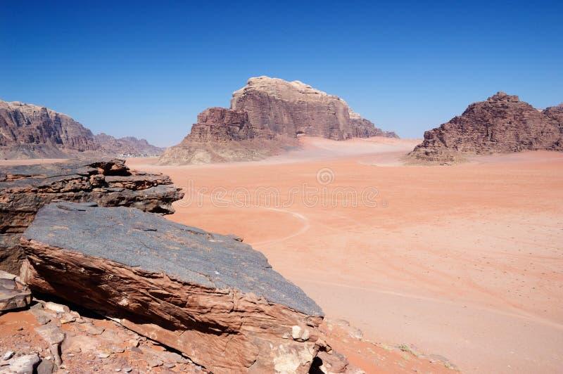 Paesaggio del deserto - rum dei wadi immagini stock