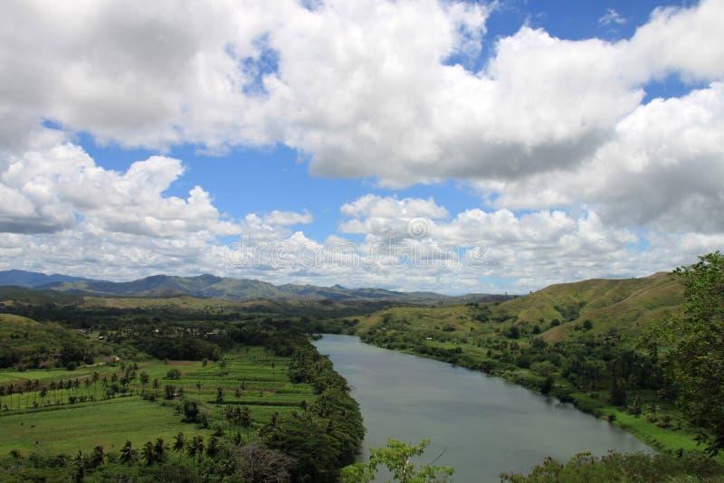 Paesaggio del fiume di Figi fotografia stock