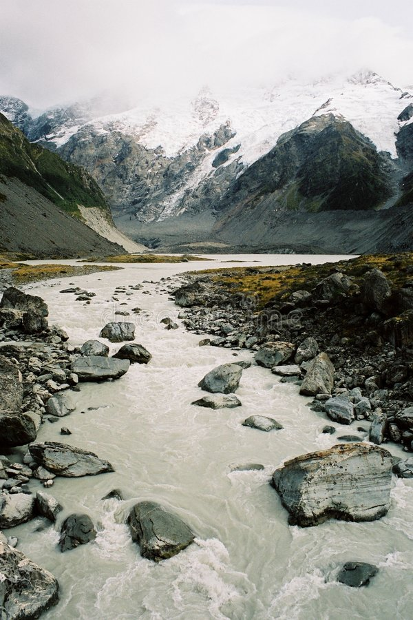 Paesaggio del ghiacciaio fotografie stock