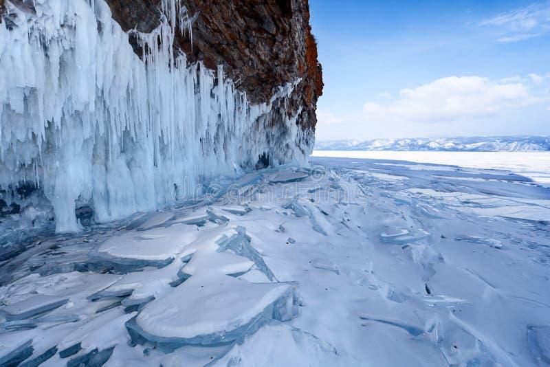 Paesaggio del lago Baikal immagine stock