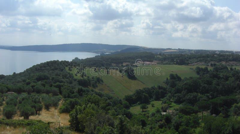 Paesaggio del lago di estate fotografia stock