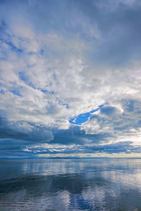 Paesaggio del lago qinghai fotografia stock