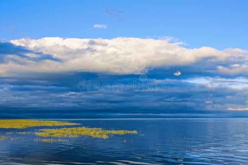 Paesaggio del lago qinghai fotografie stock libere da diritti