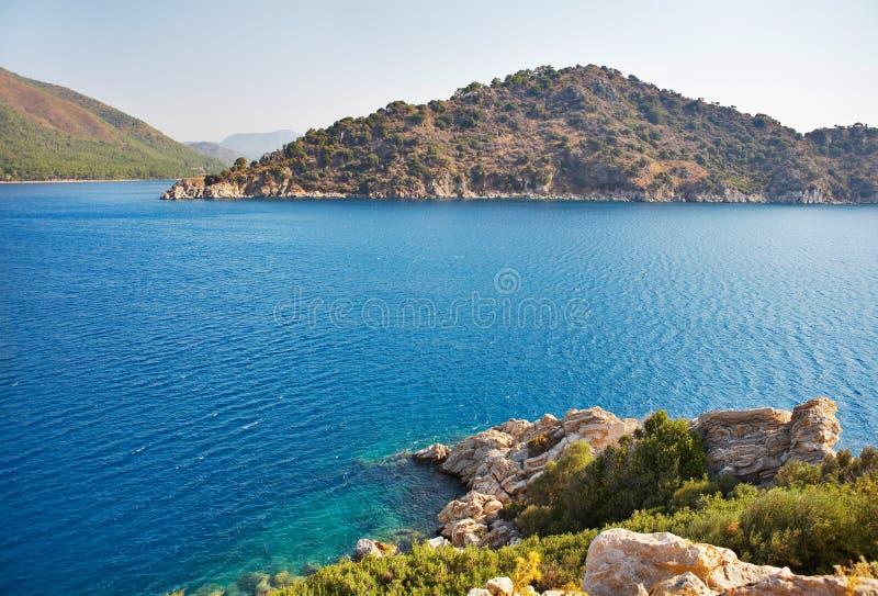 Paesaggio del mar Mediterraneo. fotografia stock