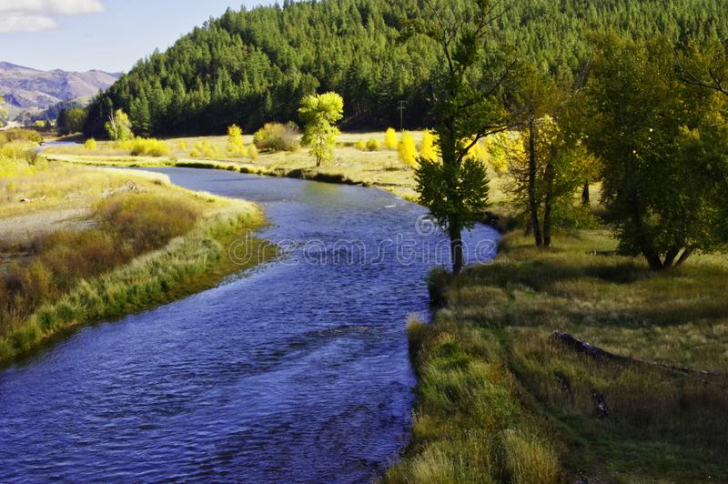 Paesaggio del Montana e di Clark Fork River immagini stock