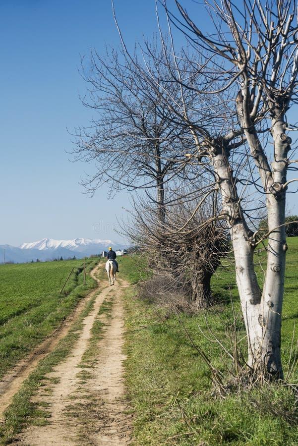 Paesaggio del paese in Brianza fotografie stock libere da diritti