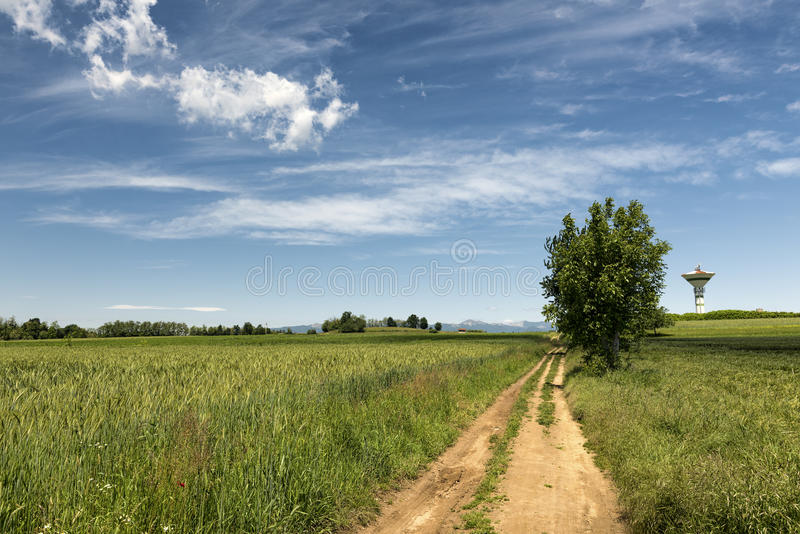 Paesaggio del paese in Brianza (Italia) immagini stock libere da diritti