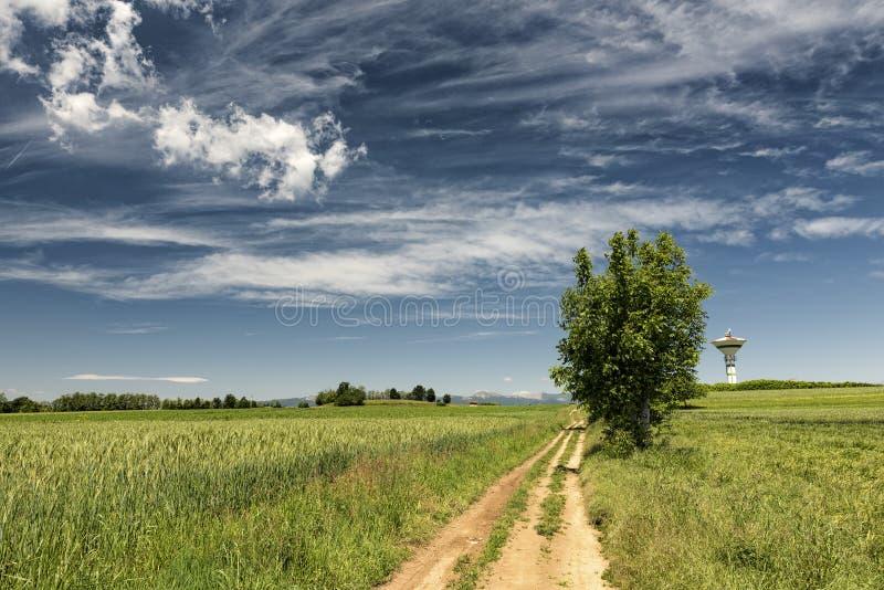 Paesaggio del paese in Brianza (Italia) immagini stock