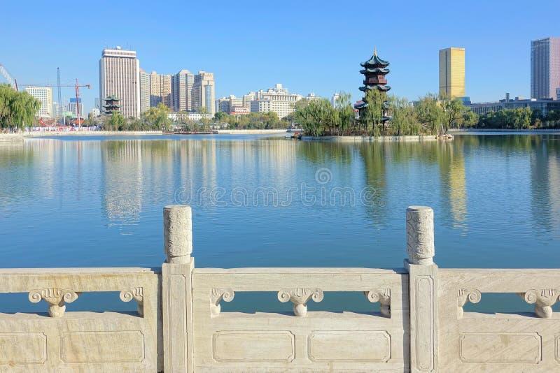 Paesaggio del parco della città immagine stock