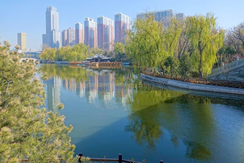 Paesaggio del parco della città fotografie stock