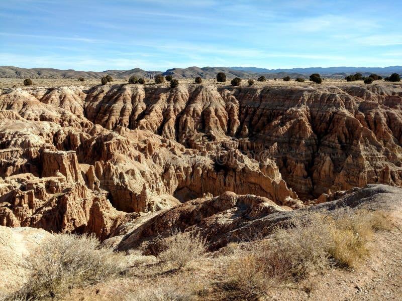Paesaggio del parco di stato della gola della cattedrale fuori di Panaca e di Pioche, Nevada immagine stock libera da diritti