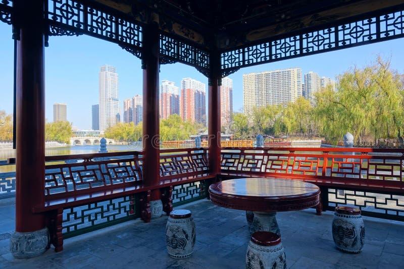 Paesaggio del parco di Yingze immagine stock