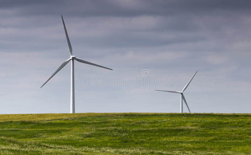 Paesaggio del parco eolico immagini stock