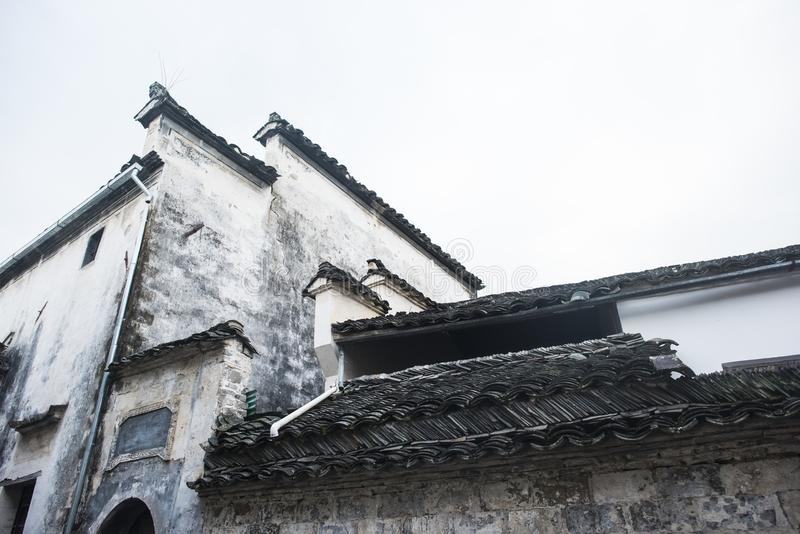 Paesaggio del passaggio dell'Anhui huangshan fotografie stock