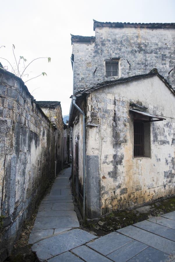 Paesaggio del passaggio dell'Anhui huangshan fotografie stock libere da diritti