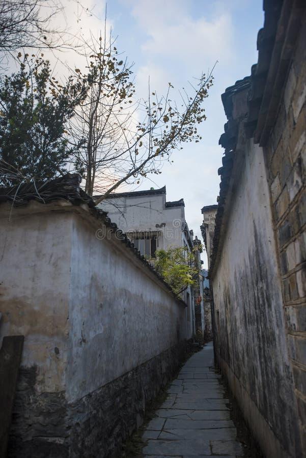Paesaggio del passaggio dell'Anhui huangshan fotografia stock