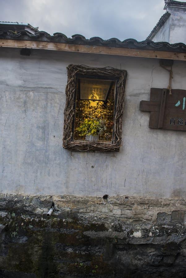 Paesaggio del passaggio dell'Anhui huangshan immagini stock