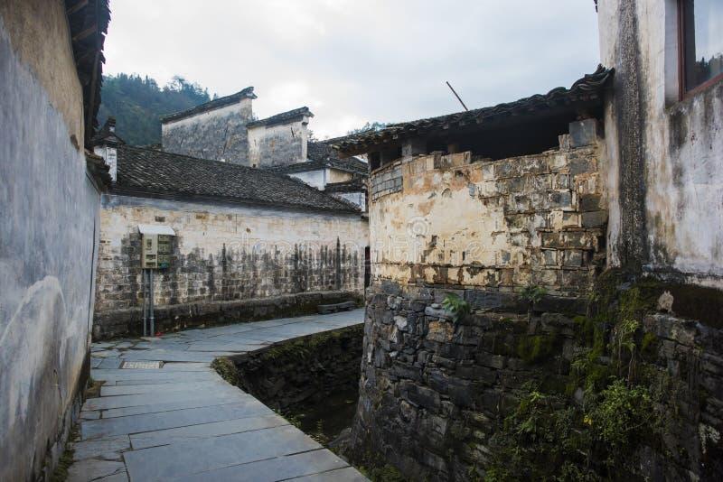 Paesaggio del passaggio dell'Anhui huangshan immagine stock