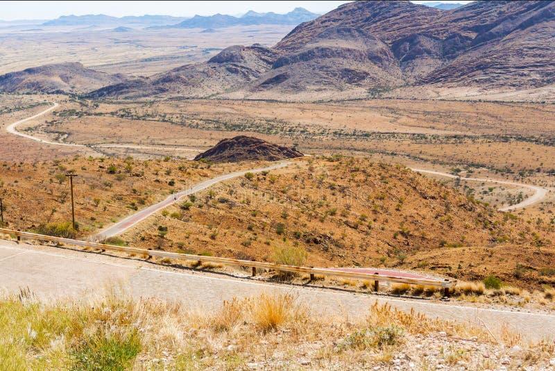 Paesaggio del passaggio di Spreetshoogte in Namibia fotografie stock libere da diritti