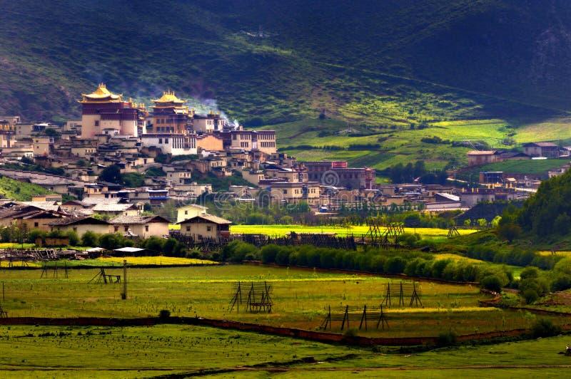 Paesaggio del ranch della Shangri-La fotografie stock libere da diritti