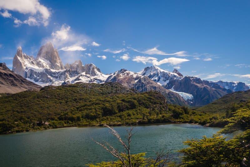 Paesaggio del supporto Fitz Roy, Chalten, Argentina immagini stock